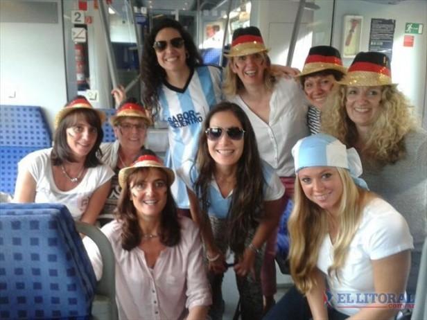 Correntinas vivieron la final del mundial 2014 en Alemania