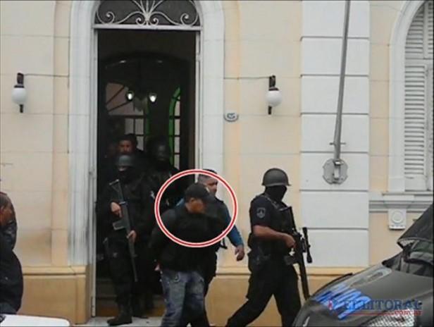 Fuerte dispositivo para el traslado del narco a Rosario