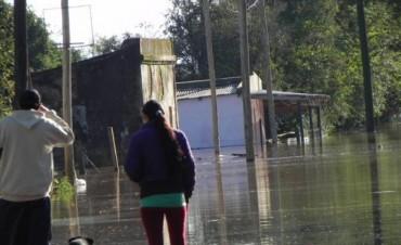 En Santo Tomé la creciente del río Uruguay obligó a 742 personas a dejar sus hogares