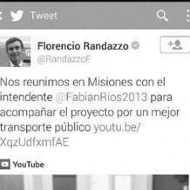 En Corrientes, Randazzo se lanzó como precandidato 2015 con un yerro twittero