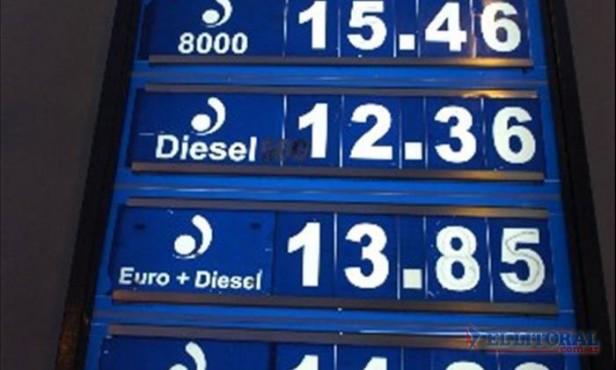 La suba de los precios de combustibles se trasladó a otras estaciones de la ciudad