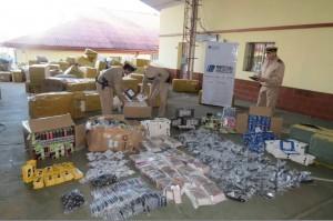 Decomisaron objetos por un valor cercano a los 40 millones de pesos