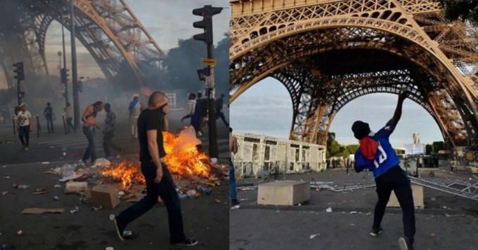 Incidentes en París tras la final de la Eurocopa