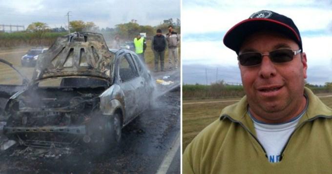Camionero salvó a dos mujeres de morir calcinadas
