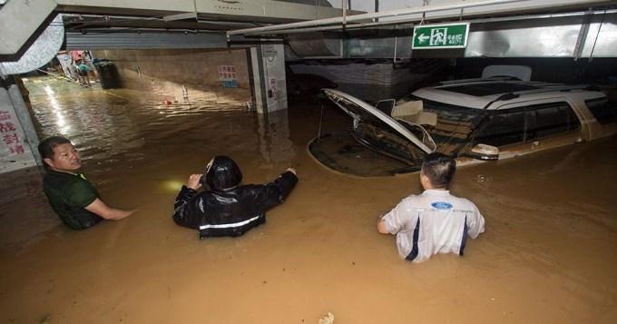 China bajo el agua: 186 muertos por inundaciones