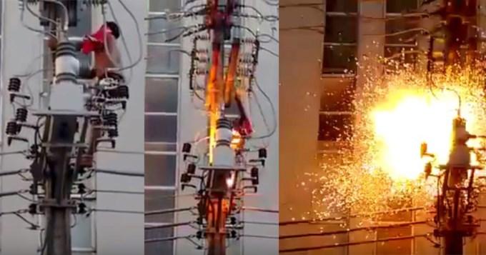 Pibe murió electrocutado en acto de Dilma Rousseff