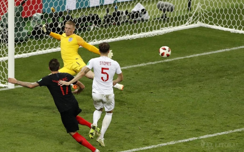Croacia llegó a su primera final tras ganar por 2 a 1 a Inglaterra