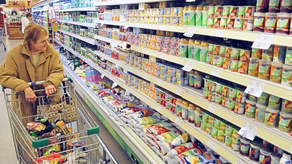 Las ventas continúan en baja en los supermercados