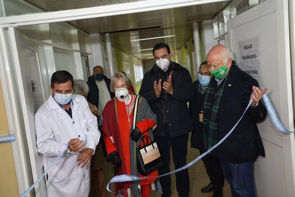 Valdés inauguró una sala para pacientes con Covid–19 en Goya
