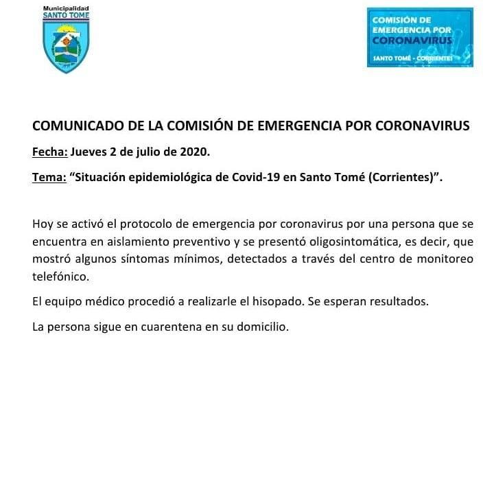 Un camionero fue con síntomas al hospital de Santo Tome y activaron el protocolo