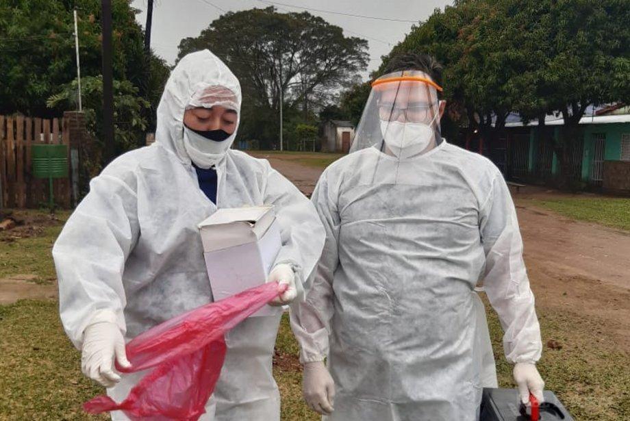 En Alvear se amplió la investigación epidemiológica y se hicieron 78 hisopados