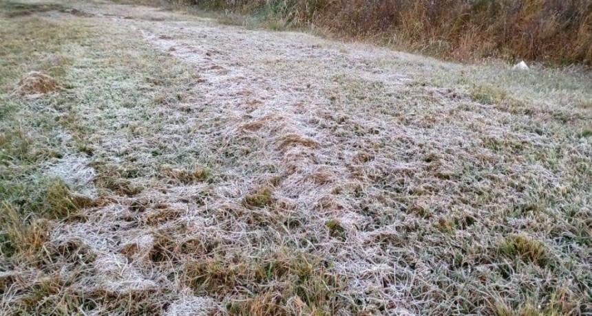 Tremendo frío en Monte Caseros con temperatura bajo cero
