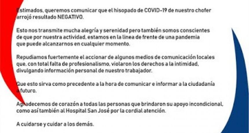 El camionero libreño en Córdoba dio NEGATIVO en COVID-19
