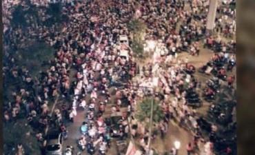 Los festejos de River se hicieron sentir en Corrientes