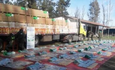 Secuestraron más de una tonelada y media de marihuana oculta en un camión en Entre Ríos