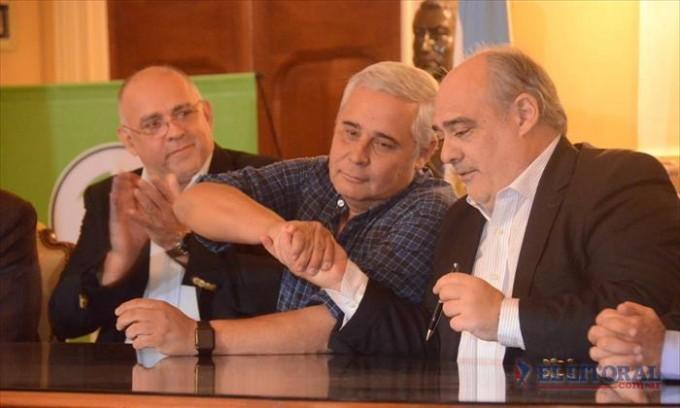 Ríos desestimó una doble lectura política de su relación con la Provincia