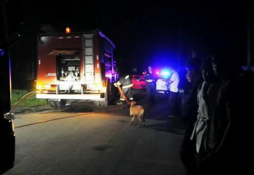 Un hombre perdió la vida, tras incendiarse su vivienda en santo tomé