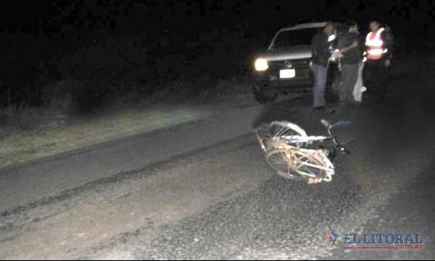 Ciclista murió tras ser atropellado por una camioneta cerca de Curuzú Cuatiá