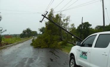 Dpec trabaja para reponer el servicio en zonas afectadas por el temporal