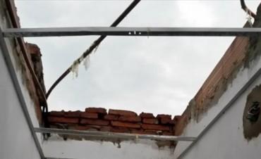 Por los daños del temporal, no hay clases en la Escuela Nº 233