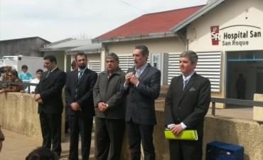 San Roque: asumió Amarilla como director del hospital y Dindart entregó equipamiento