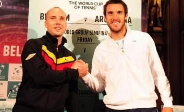 Argentina visita desde hoy a Bélgica por un lugar en la final de la Copa Davis
