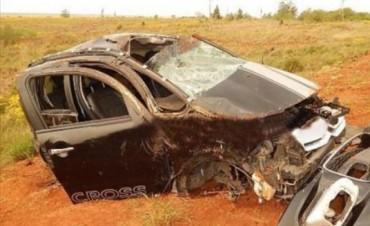 Una mujer murió en el despiste y vuelco de un automóvil en Santo Tomé