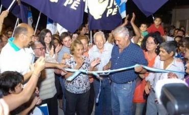 Inauguraron pavimento de calle Madariaga, otra transversal entre Maipú y Chacabuco