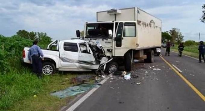 Tres muertos en choque frontal sobre la Ruta 14