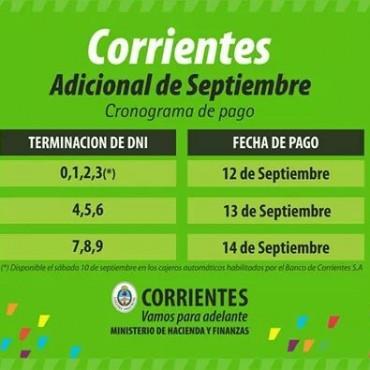 Desde el lunes 12, Provincia paga el plus de septiembre