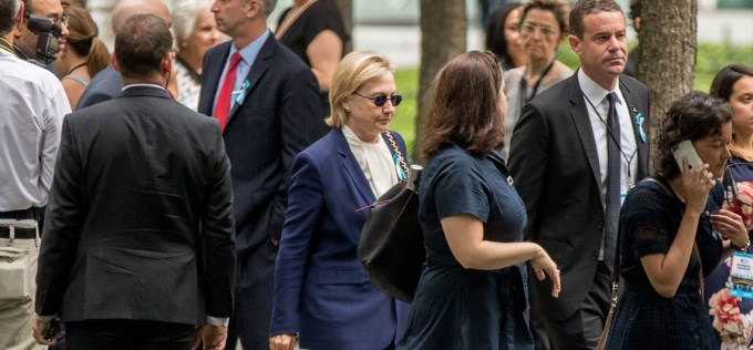 Hillary se desmayó en el acto del 11S