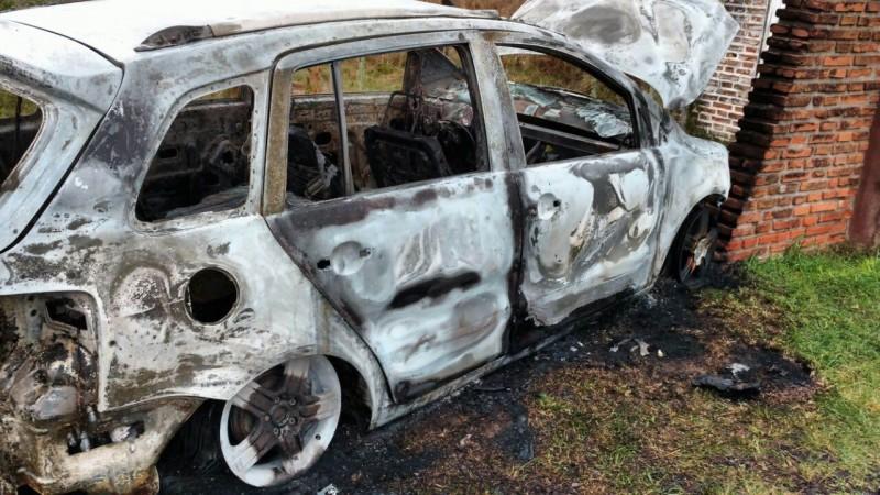 Ajuste narco: tras el asesinato los autores quemaron un auto