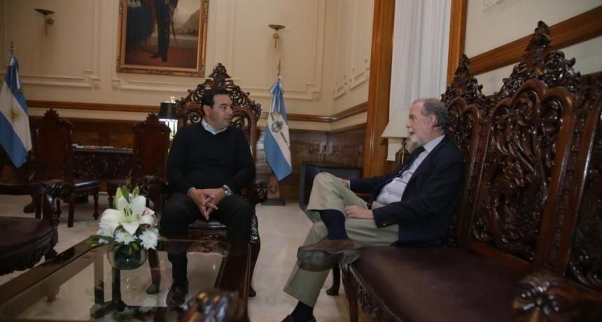 Valdés recibió al titular del Banco Nación y reorganizó el plan local por la emergencia