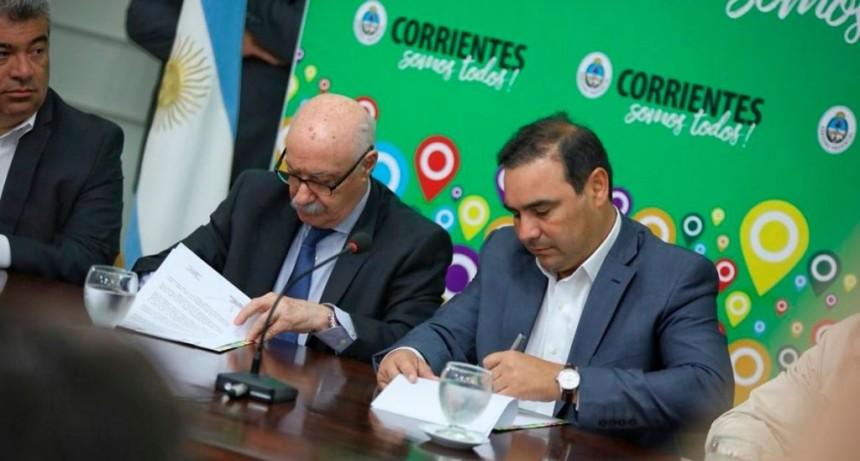 Valdés rubricó acuerdo para fomentar las exportaciones