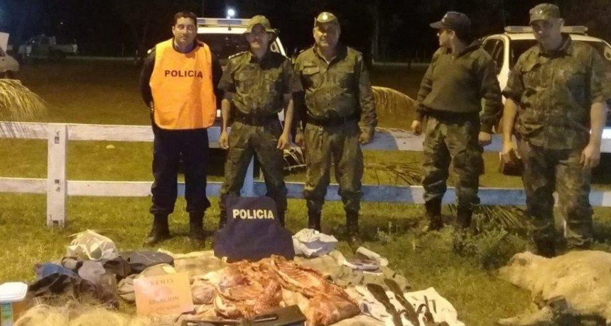 Se estaban robando una oveja en un Peugeot y los detuvo la policía