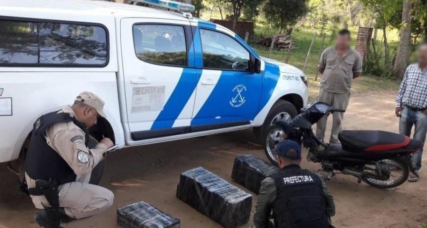 Secuestraron cargamento de 100 kilos de marihuana en la ribera de Itatí