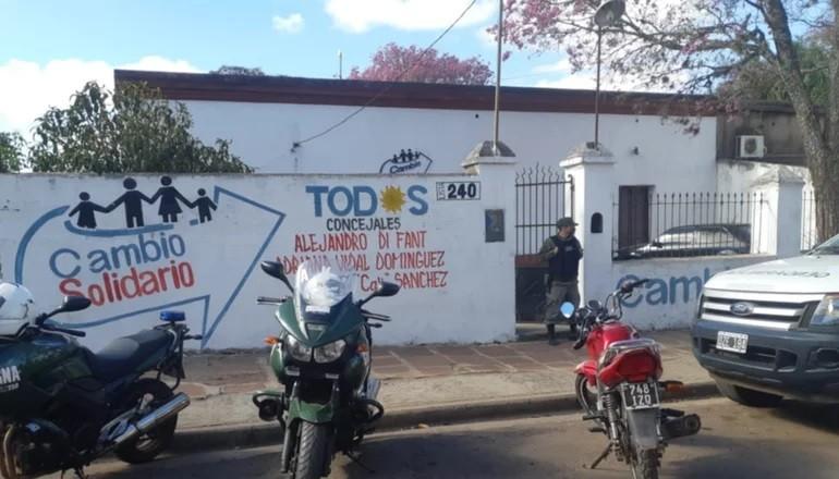 Allanan un partido político en Corrientes
