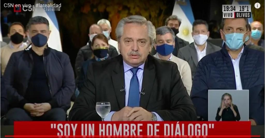 Alberto Fernández y el reclamo en la Policía Bonaerense: