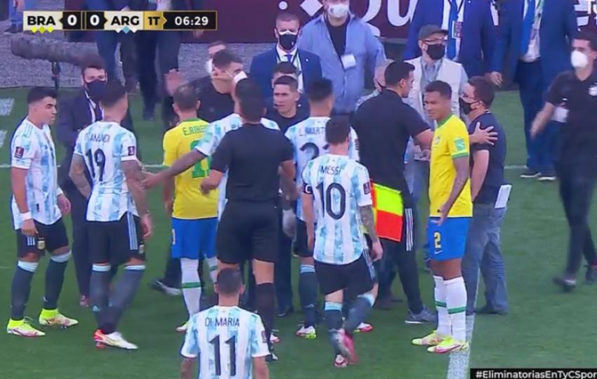 Papelón histórico: Suspendieron el partido Brasil - Argentina