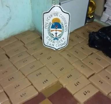 San Cosme: secuestran vehículo con 658 kilos de marihuana