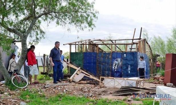 Temporal en varias comunas afectó a 92 casas y hay al menos medio centenar de evacuados