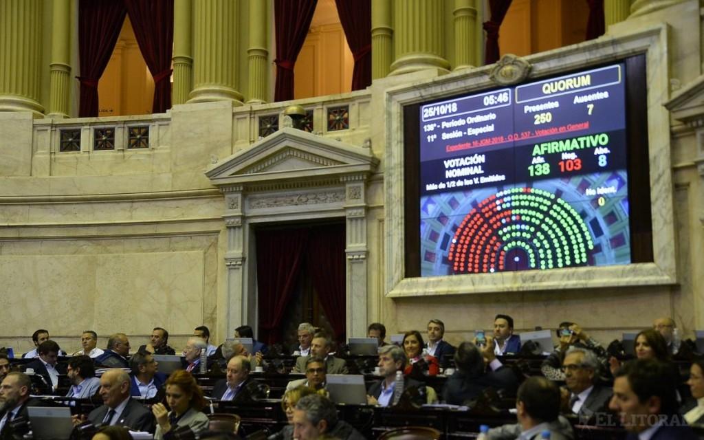 El oficialismo consiguió los votos y le dio media sanción al Presupuesto 2019