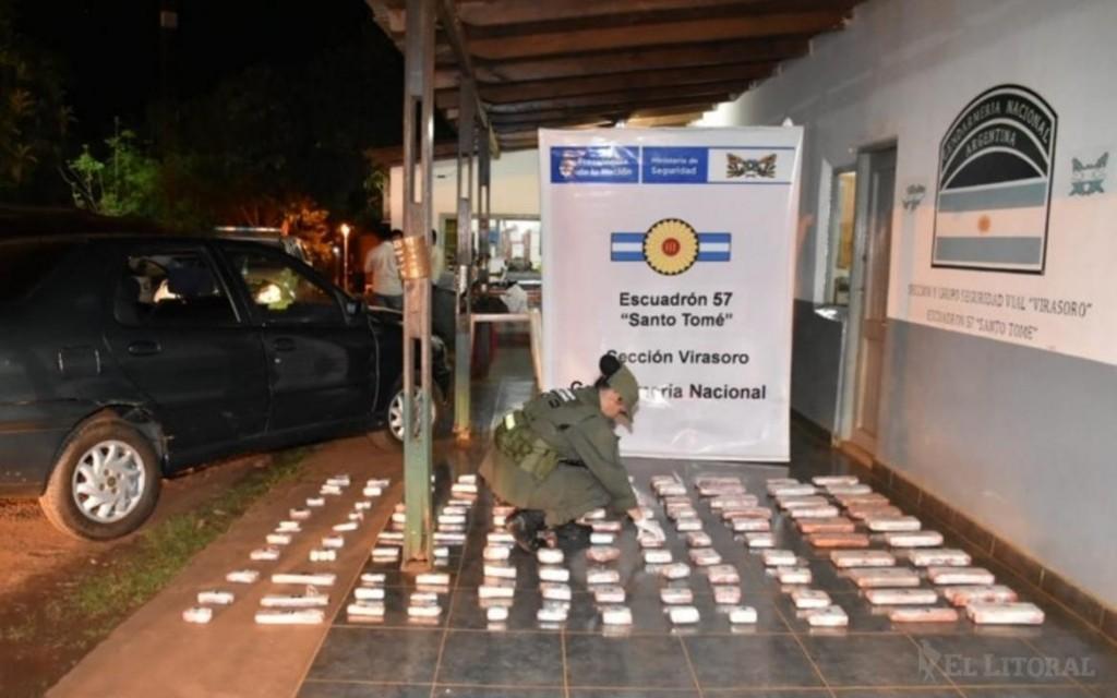 Gobernador Virasoro: incautan carga de marihuana valuada en 1,5 millón de pesos