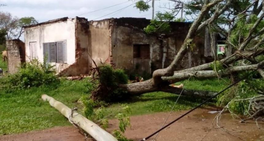 En Curuzú asisten a familias afectadasy aún quedan siete personas evacuadas