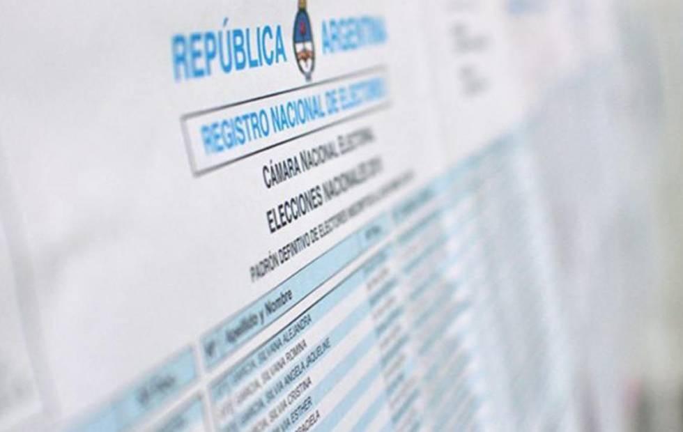 Ya está disponible el padrón electoral: conocé dónde votas
