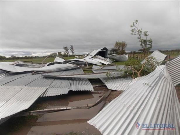 Temporal afectó a 160 familias en Goya y causó destrozos en parajes de Mercedes