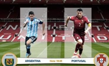 Argentina y Portugal le dan marco al duelo Messi - Ronaldo