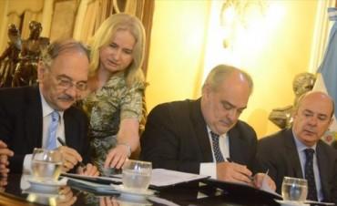 Colombi y Bacileff renovaron el acuerdo y definieron la traza del segundo puente