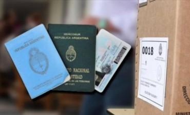 Cuáles son los documentos habilitados para votar