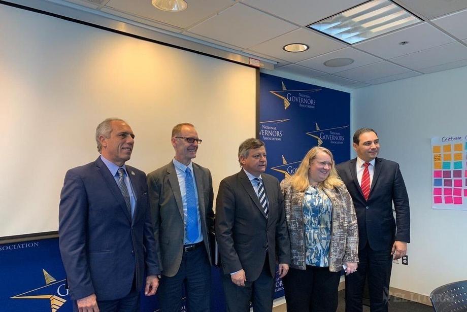Valdés, con funcionarios de EE. UU., en busca de inversiones para el desarrollo local